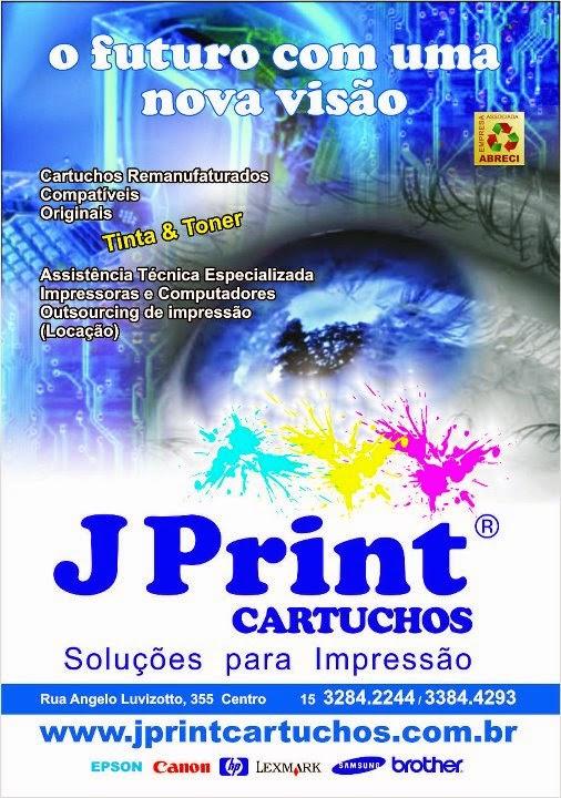 J Print  Cartuchos, Recarga de Cartuchos e Informática  Rua. Ângelo Luvizotto, 355 Cep: 18520000 Centro- Cerquilho, SP tel: (15) 3384-4293