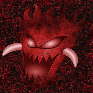 Final Evil Red Demon Head Design