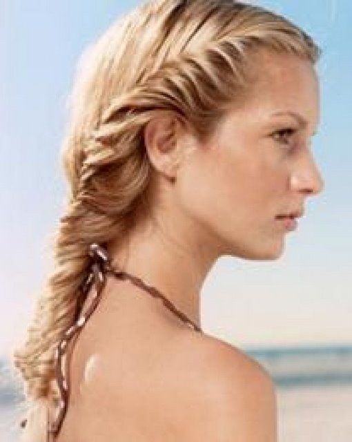Fishtail braid plait long hair style collection more for Fish tail hair