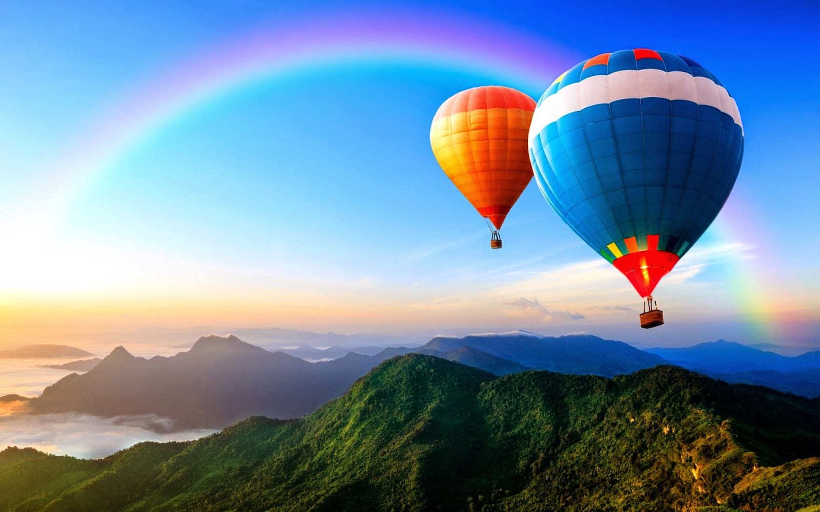 Stunning hot air balloon wallpaper