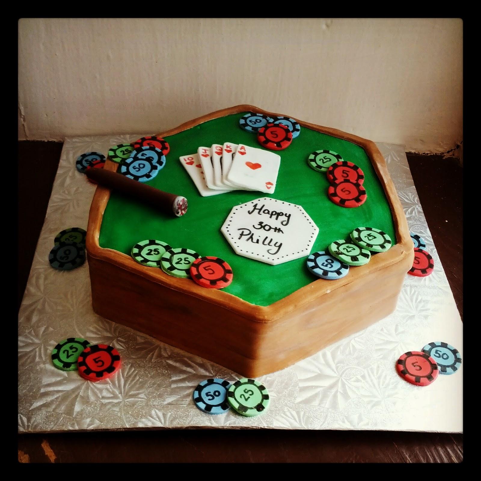 Second Generation Cake Design Poker Table Birthday Cake