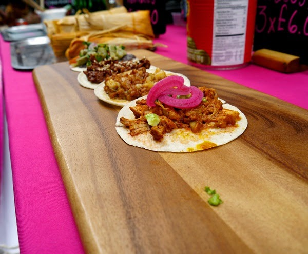 Tamal tacos at Maltby Street Market, London