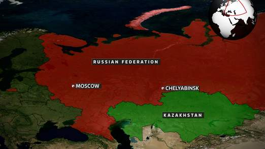 Peta Chelyabinsk, Russia