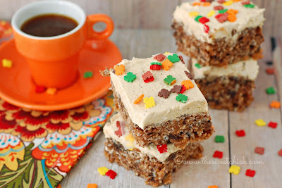 #chocolate #pumpkin #ricekrispies #dessert #snack #fall #bars #pumpkinspicekisses