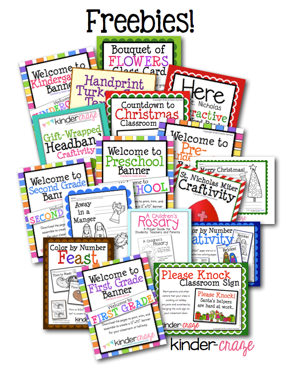 Kindergarten Classroom Blog Freebies