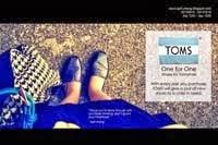 ★ 20131019 TOMS shoes ad 鞋子广告