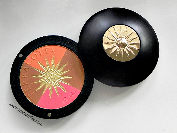 guerlain terracotta sun celebration bronzing powder and blush 30th anniversary edition, review, swatch