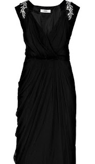 Black Long Wrap Gown