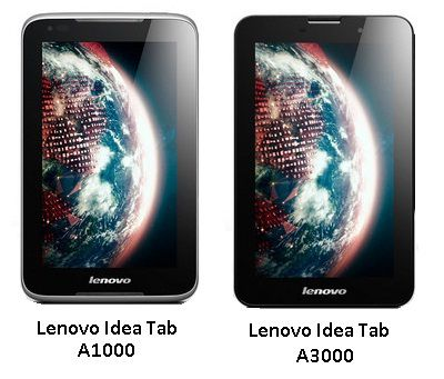 Lenovo A1000 & A3000: Price and Specifications