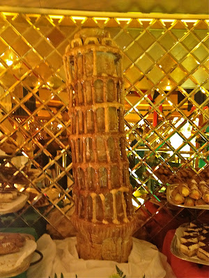 Leaning Tower of Pisa made out of bread