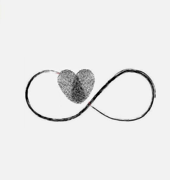 This heart is a combo of two fingerprints joining together to make one