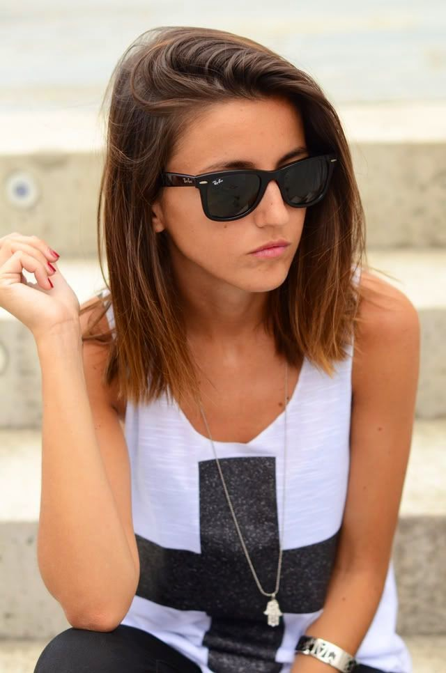 Hairstyles For Short Hair To Your Shoulders : La Chica Bien: El long bob: corte mediano