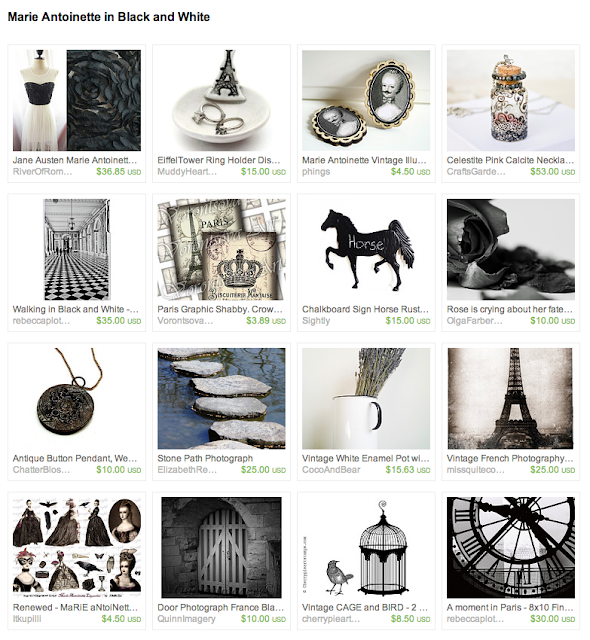 black and white items in a parisian style