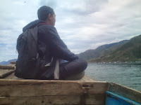 Perahu di Danau Toba