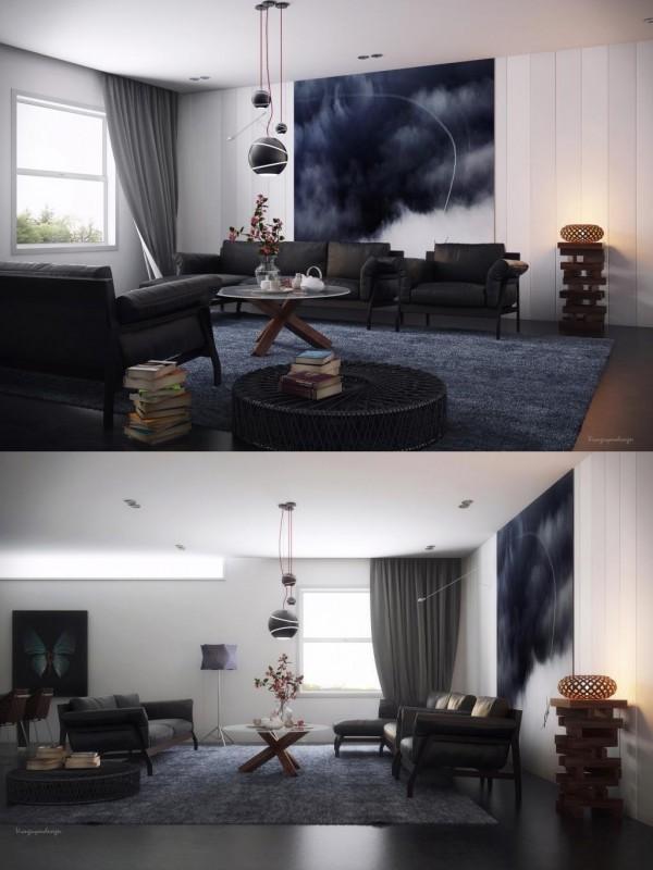 Das Sonnige Wohn Zimmer Könnte Als Schlafzimmer In Diesem Kleinen  Europäischen Wohnung Leicht Funktionieren.