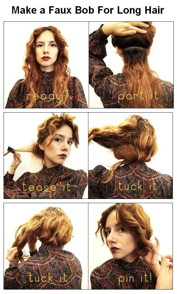 steps 1 first part your hair below your ears 2 tease the hair below