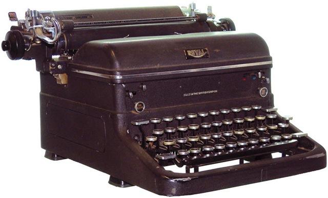 Máquinas de escrever: ferramenta usada até os anos 70 nas redações