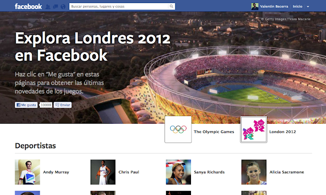 Facebook lanza pgina especial para los Juegos Olmpicos 2012