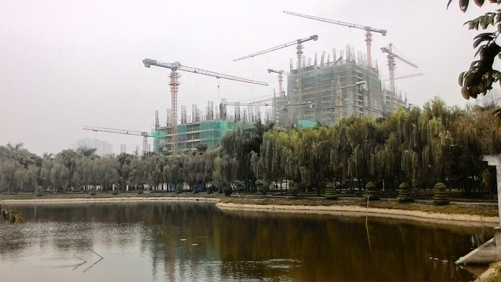 Chung cư HH3 Linh Đàm nhìn từ mặt hồ-1