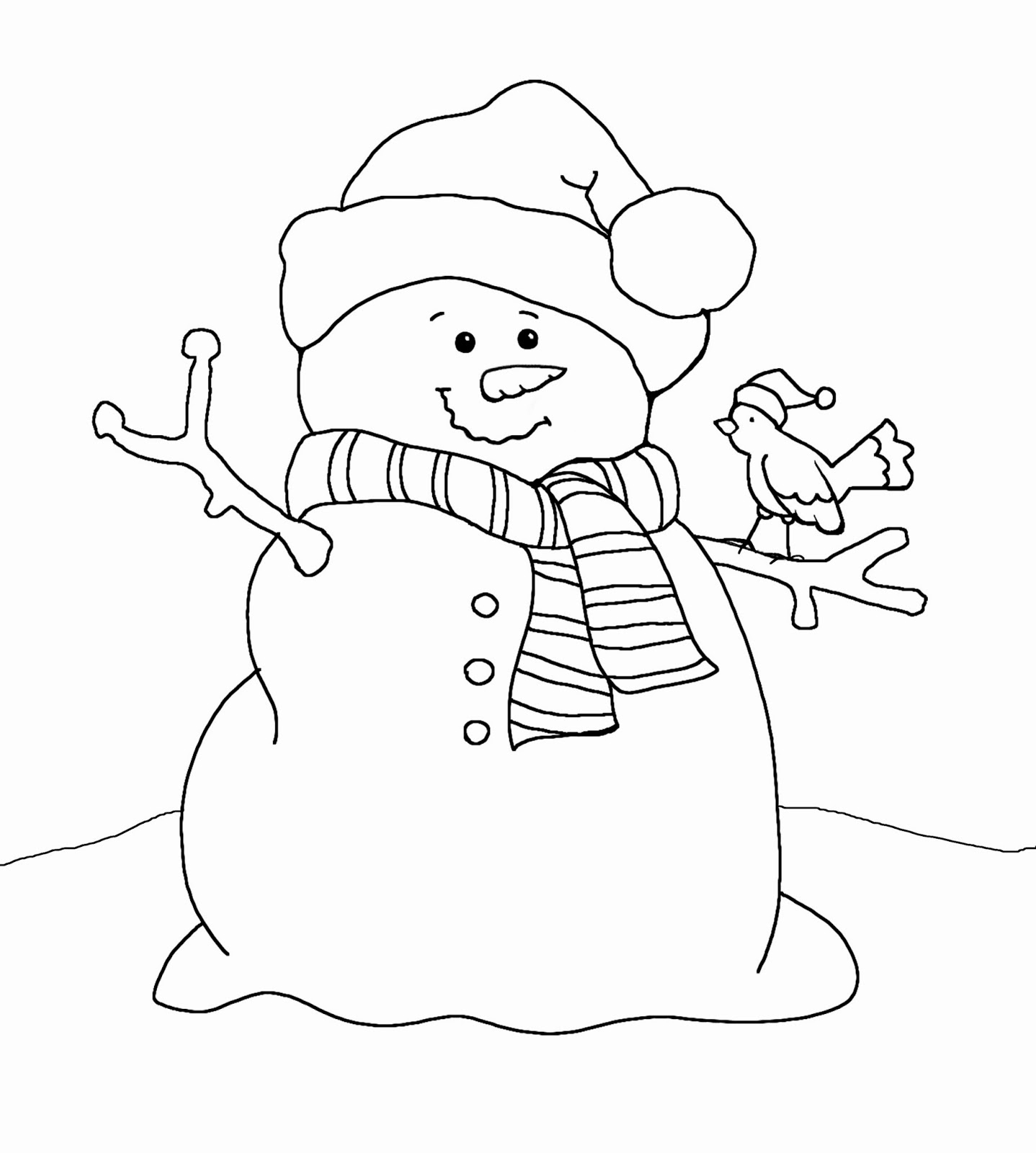 Free Coloring Pages Of The Snowman Is White Snowman Coloring Pages Free