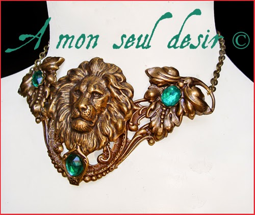 Collier médiéval Lion Lannister Hear me Roar Necklace Game of Thrones Jewelry