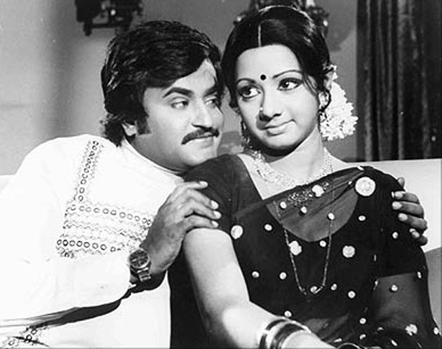 Rajinikanth & Sri Devi in 'Gayathri' movie