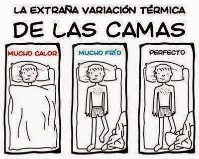 extraña variacion termica de camas