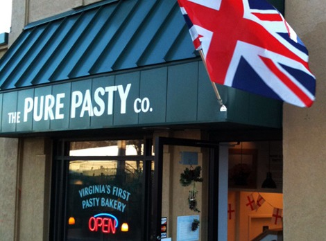 Pure Pasty in Vienna VA with Union Jack