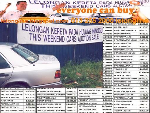 kenderaan kereta lelong - bayaran, bagi pembelian kenderan yang dijual