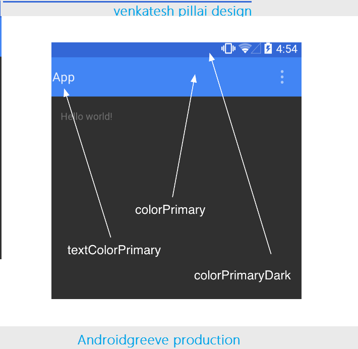 Color Accent how to apply material design to your app