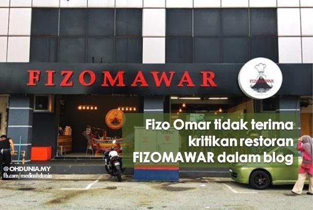 Fizo Omar Tak Terima Kritikan Blogger Terhadap Restoran FizoMawar Kitchen