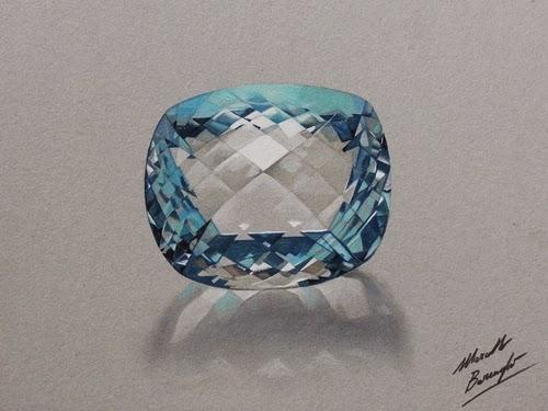 06-Aquamarine-Stone-Graphic-Designer-Illustrator-Marcello-Barenghi-Hyper-Realistic-Every-Day-Items-www-designstack-co