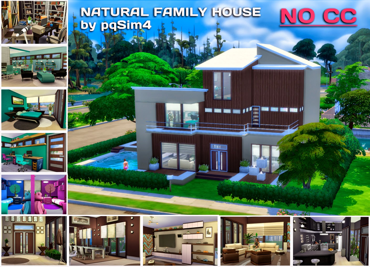 Sims 4 natural family house for Holistic house
