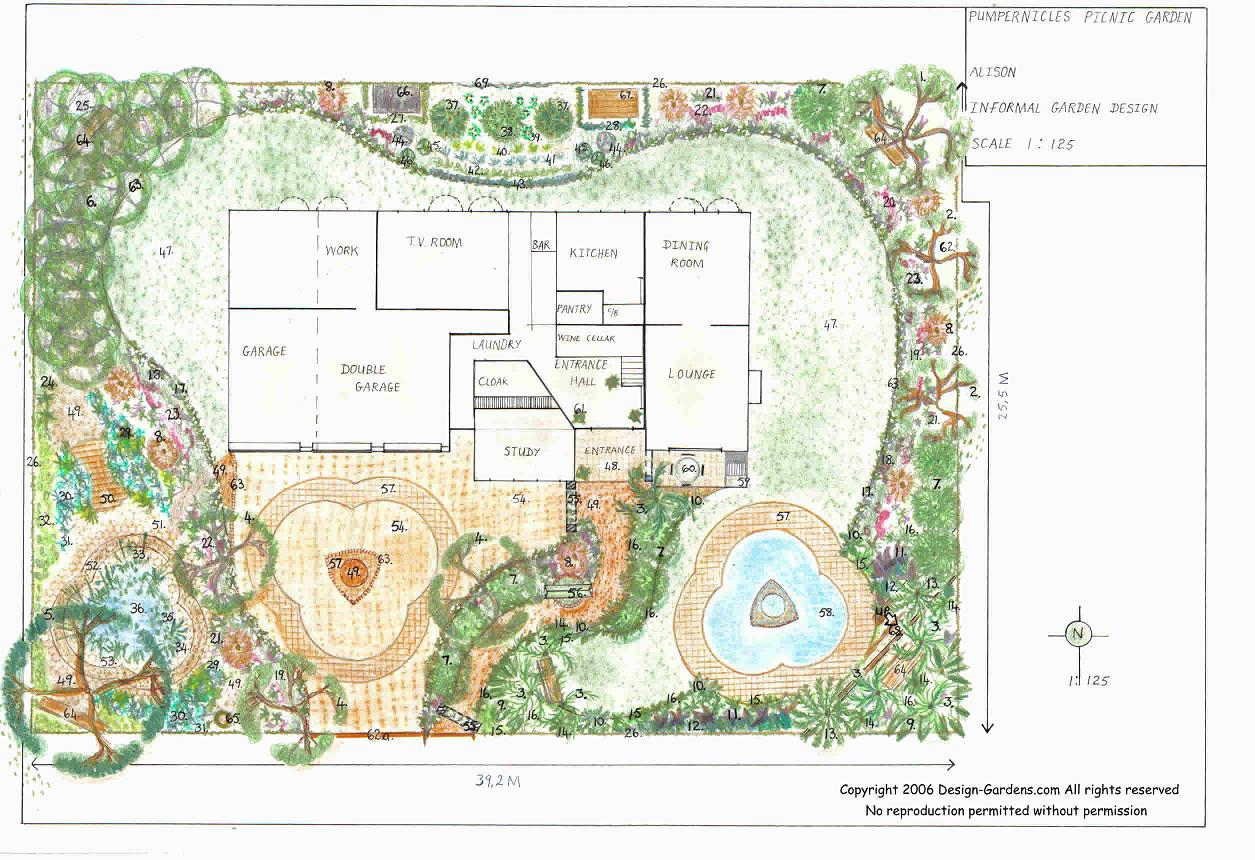 Architelago plan denah for Land design landscaping