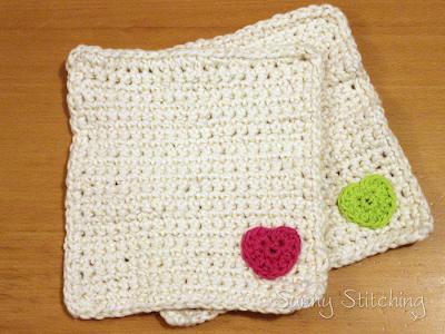Organic Crochet Washcloths: Sunny Stitching