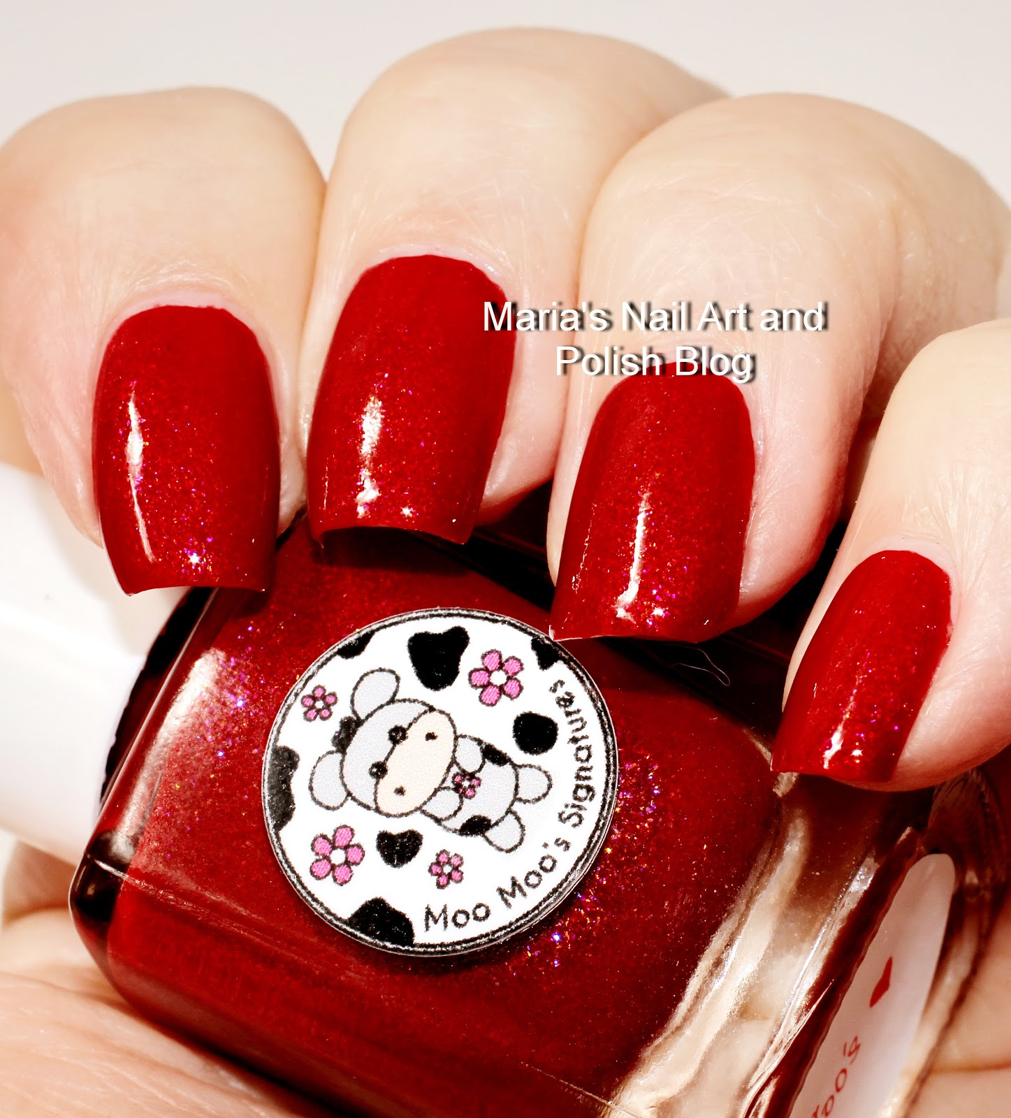 Marias Nail Art And Polish Blog Flushed With Stripes And: Marias Nail Art And Polish Blog: Moo Moo's Signatures Moo