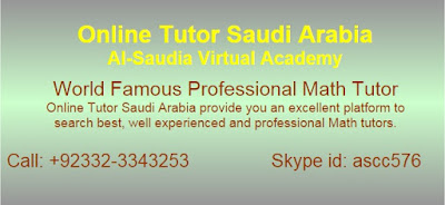 Online Math Tuition, Math tutors Saudi Arabia