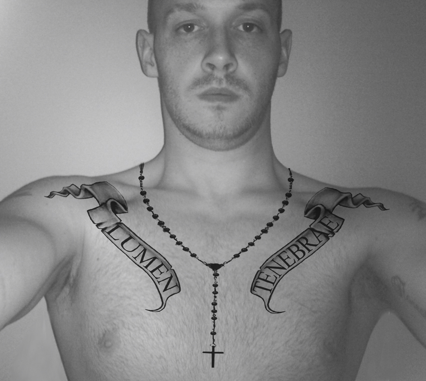 Tatto chest tattoo photos images pictures for Simple chest tattoos for guys