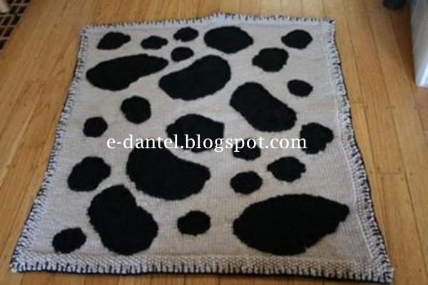 Dalmaçyalı Örgü Bebek Battaniyesi Örneği