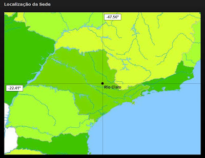 Mapa mostrando a Localização cartográfica do município de Rio Claro.