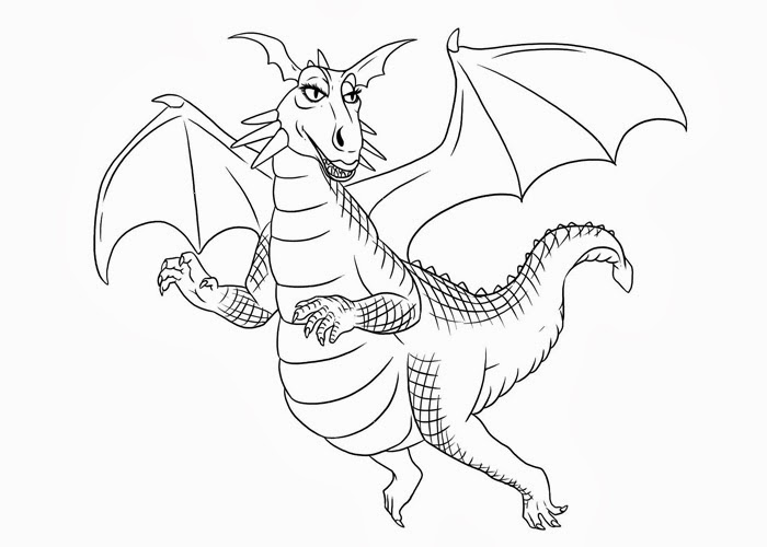 shrek dragon coloring pages - photo#1