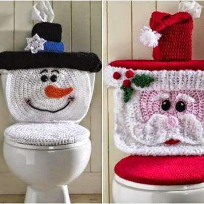 Cubre inodoro y depósito al crochet
