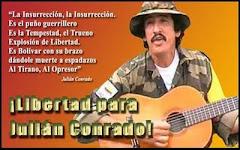 Libertad para julián Conrado!