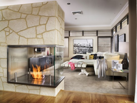 fireplace decor ideas modern interior design large size natural stone fireplace - Fireplace Styles And Design Ideas