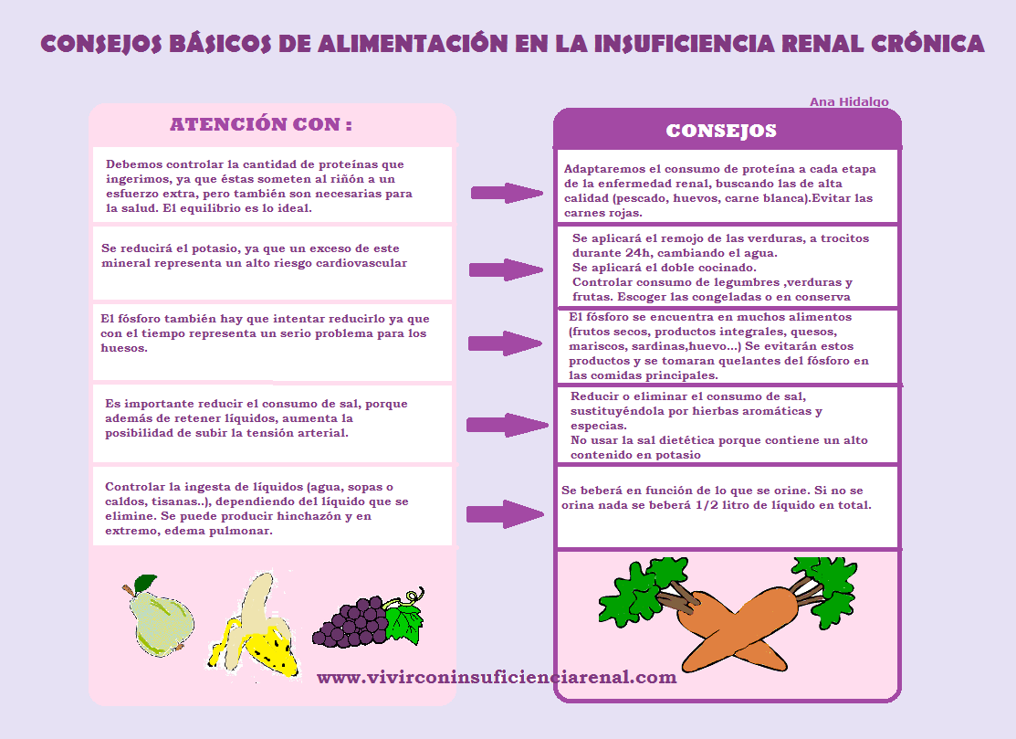 Vivir con insuficiencia renal 1 09 13 1 10 13 for Alimentos prohibidos para insuficiencia renal