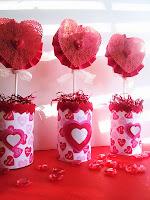 Украса Свети Валентин сърца от дантела