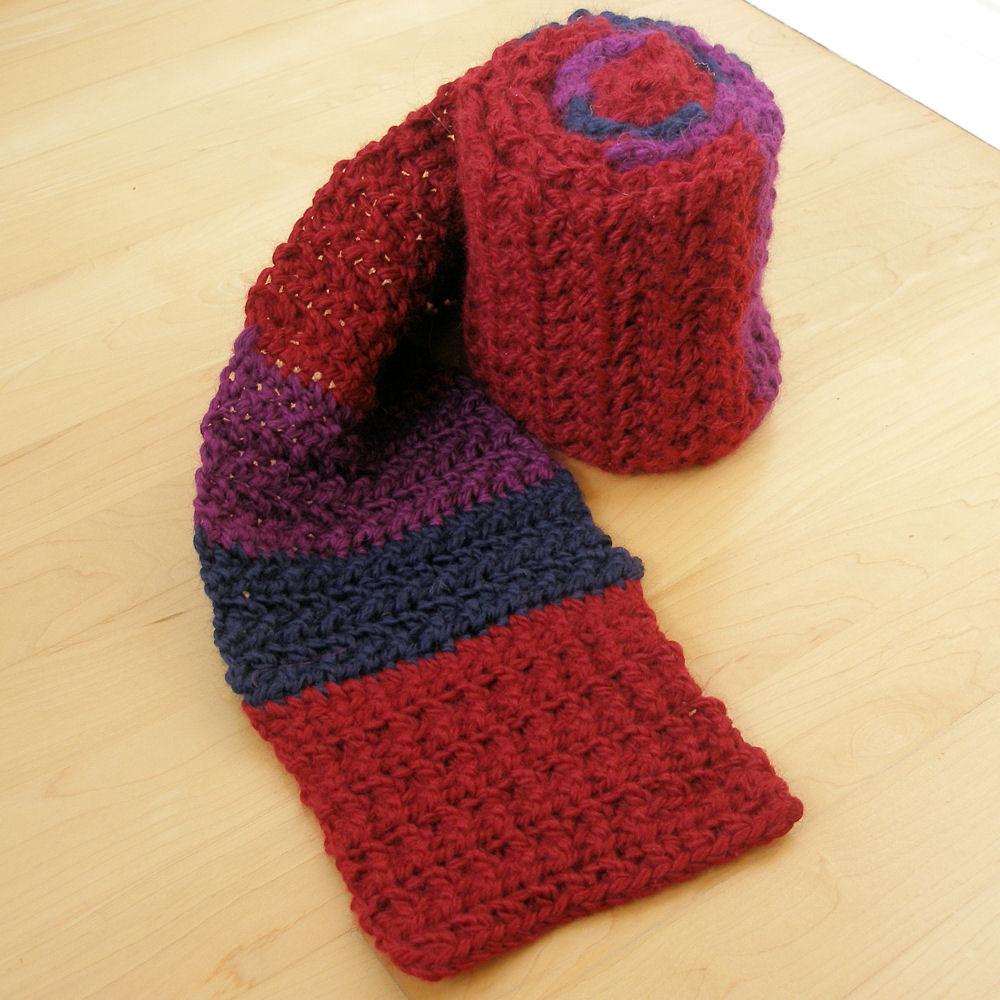 JeweledElegance: Castle Inspired Striped Scarf Crochet Pattern