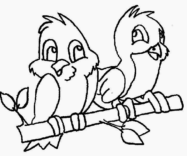 Bird Color Page AZ Coloring Pages