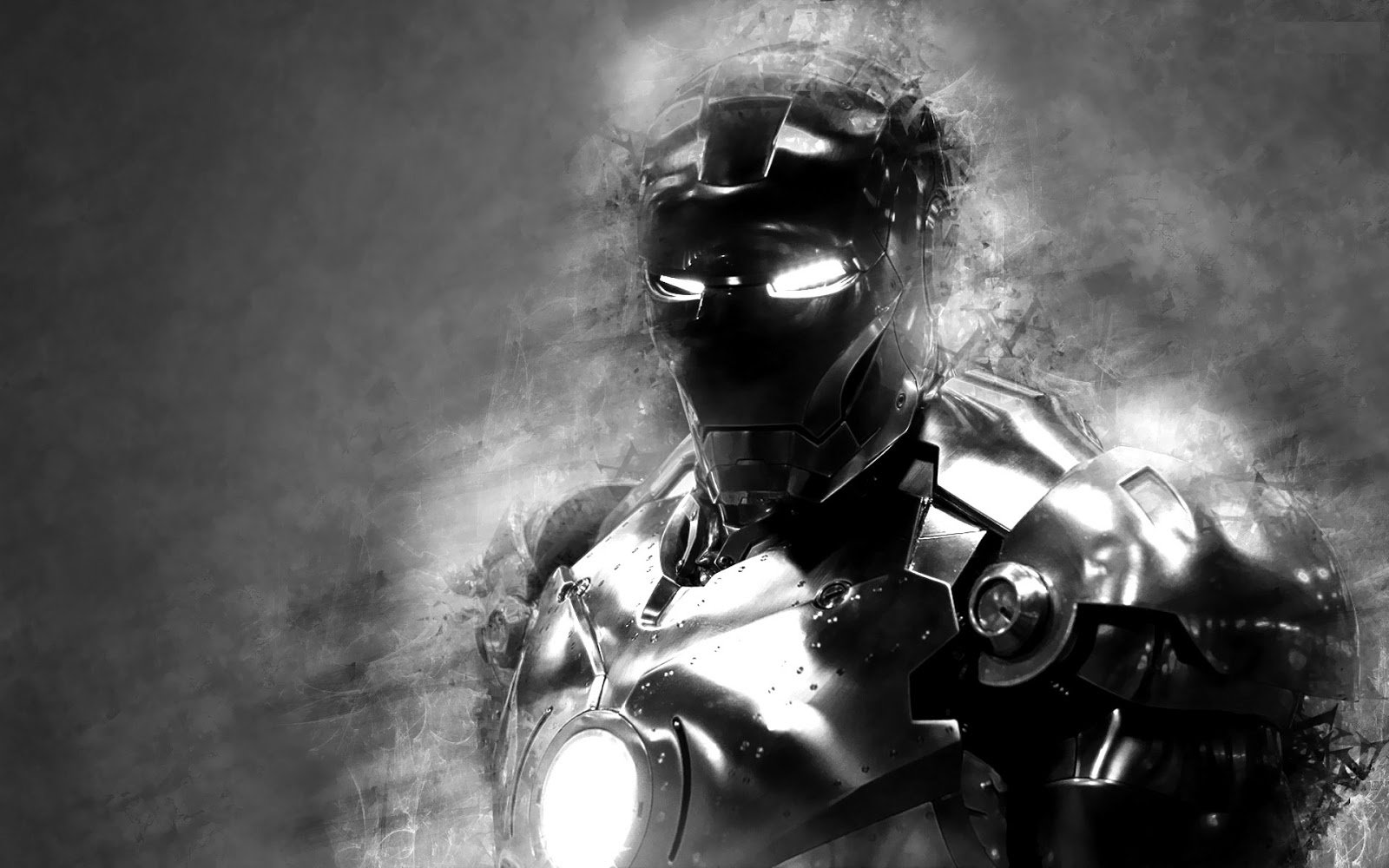 Iron Man 3 black and white Photo