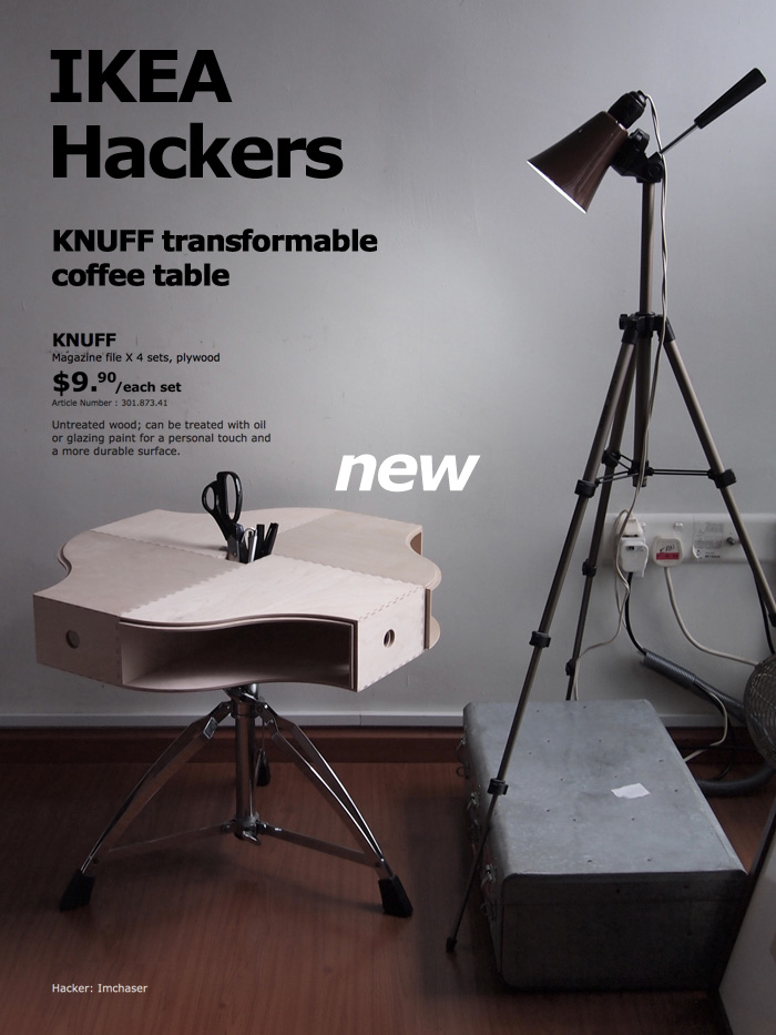 focus company employee ikea hackers knuff transformable coffee table. Black Bedroom Furniture Sets. Home Design Ideas